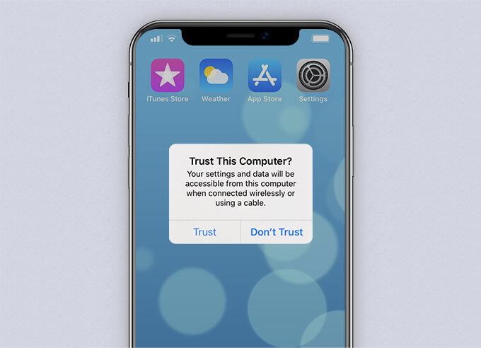 يثق iPhone بهذا الكمبيوتر