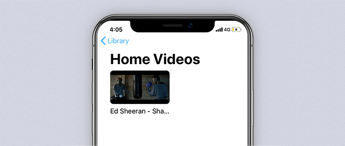 Synchronisierte Videodatei in Apple TV