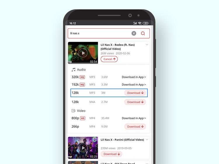 Lade Musik von YouTube auf Android herunter
