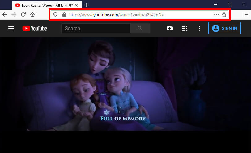 Copia l'URL da Firefox