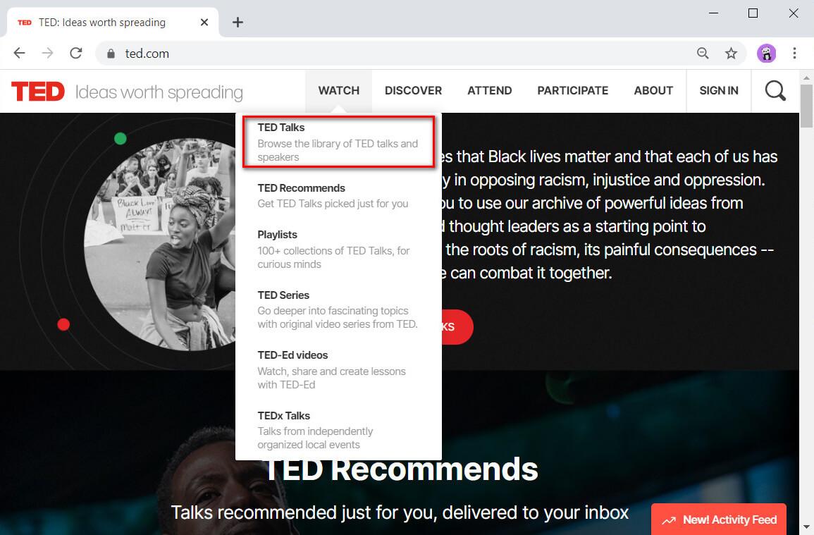 Gehen Sie zu TED Talks