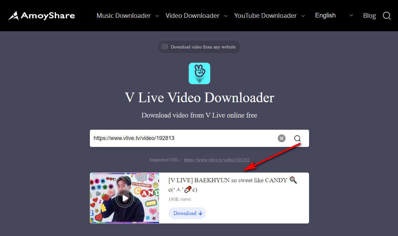 Incolla collegamento video e ricerca