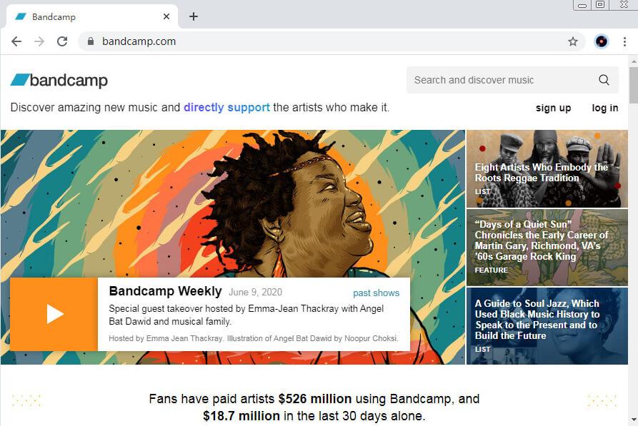 SoundCloud-Alternativen - Bandcamp