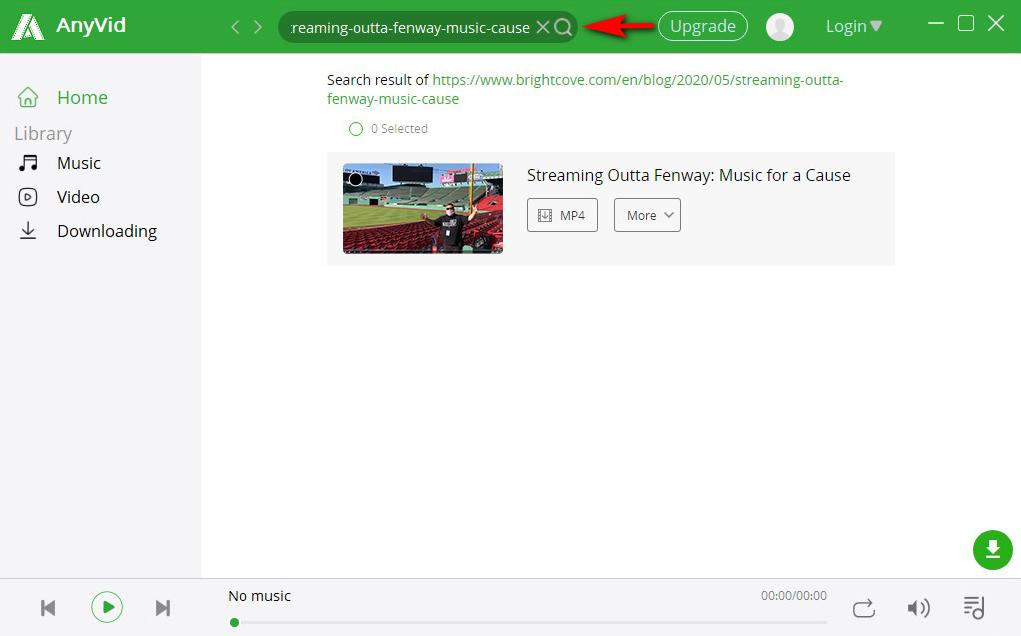 ابحث عن مقاطع فيديو Brightcove