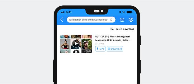 ابحث عن موسيقى Mixcloud باستخدام AnyMusic