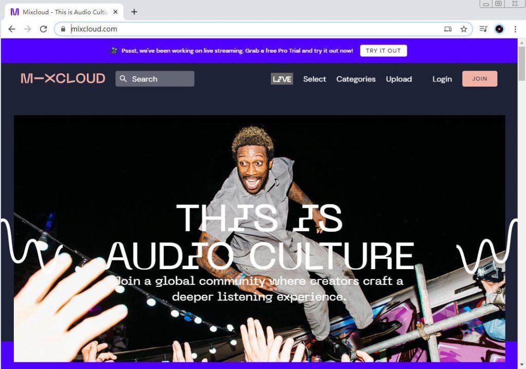 SoundCloud-Alternativen - Mixcloud