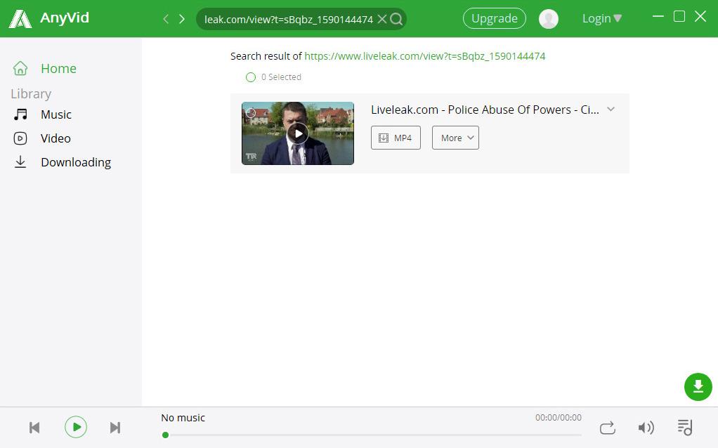 Starten Sie die Suche nach Liveleak-Videos