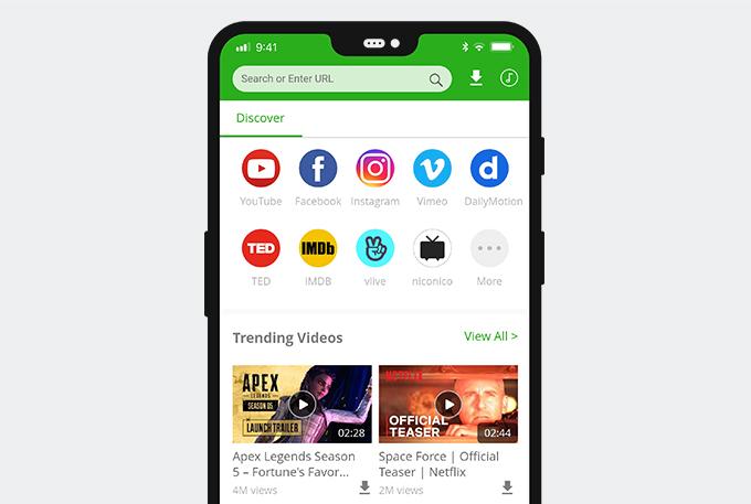 Versione mobile di AnyVid