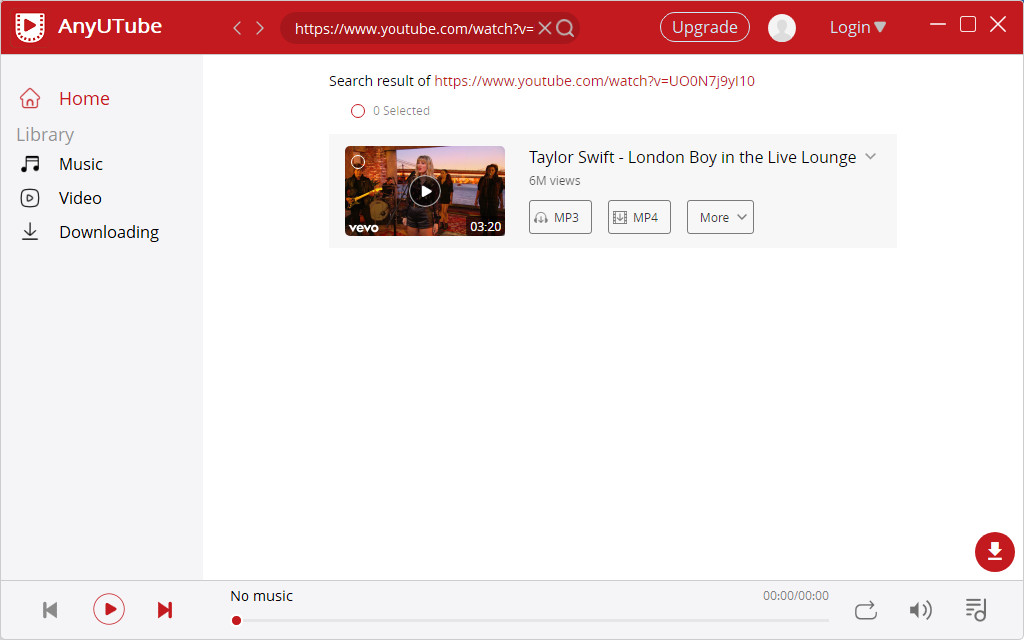 بحث يوتيوب حجب الفيديو على AnyUTube