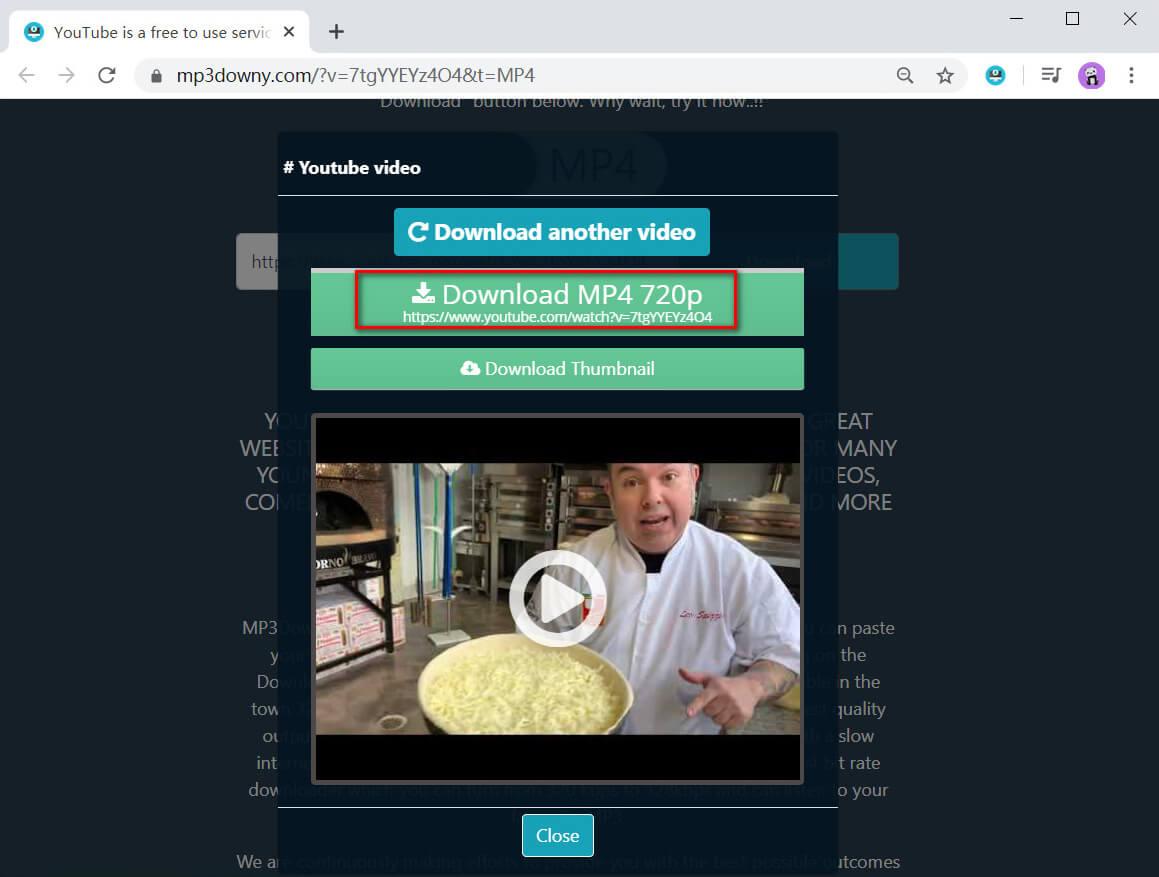 Auswahl und Download der Videoqualität