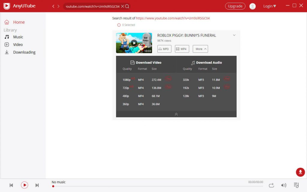 Scarica video di YouTube con URL
