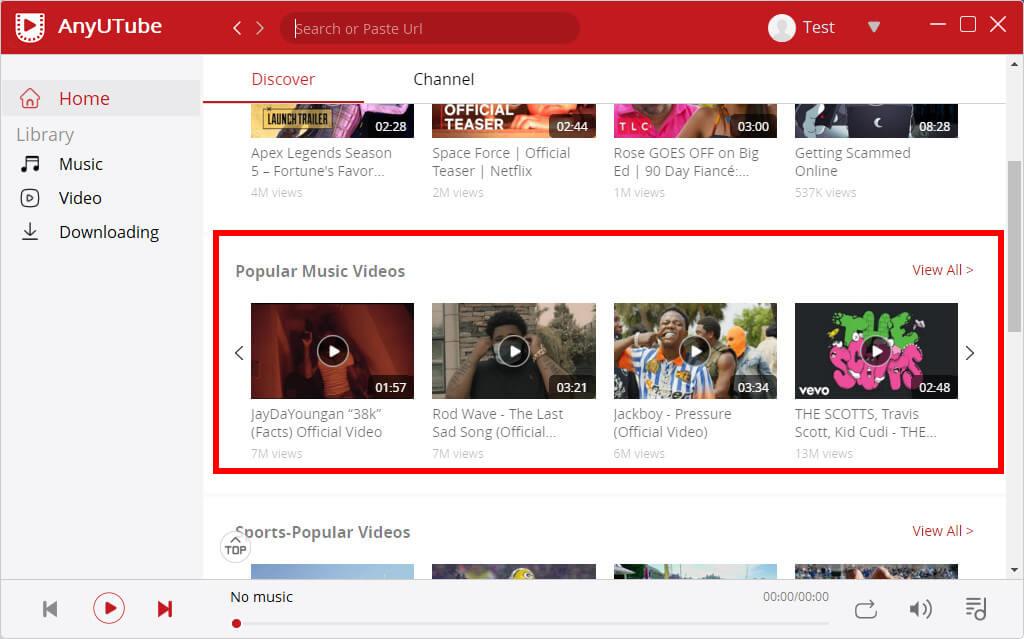 Video musicali popolari su AnyUTube