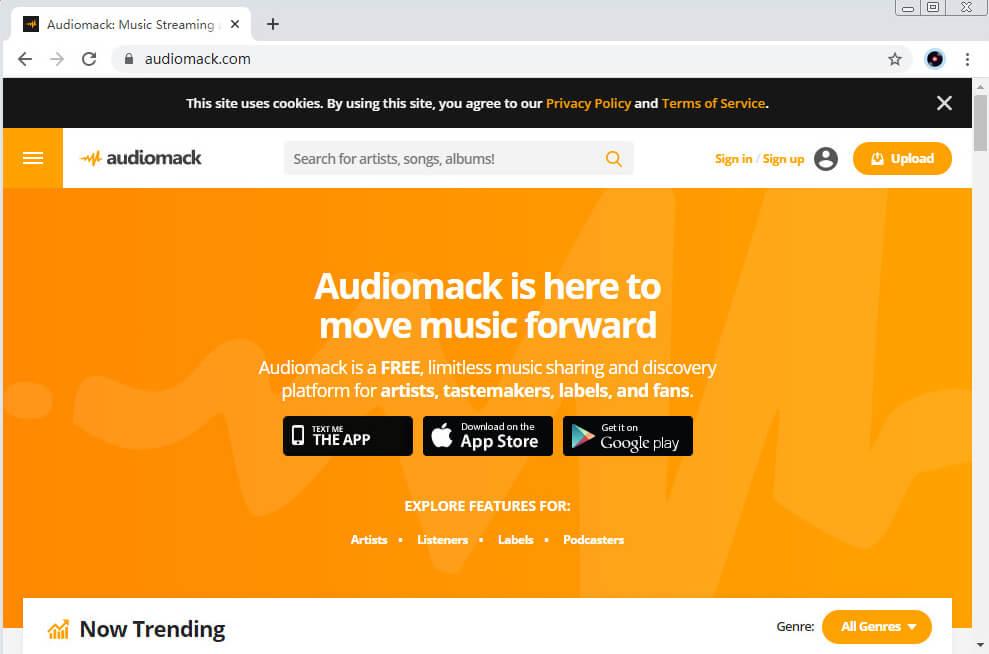 SoundCloud-Alternativen - Audiomack