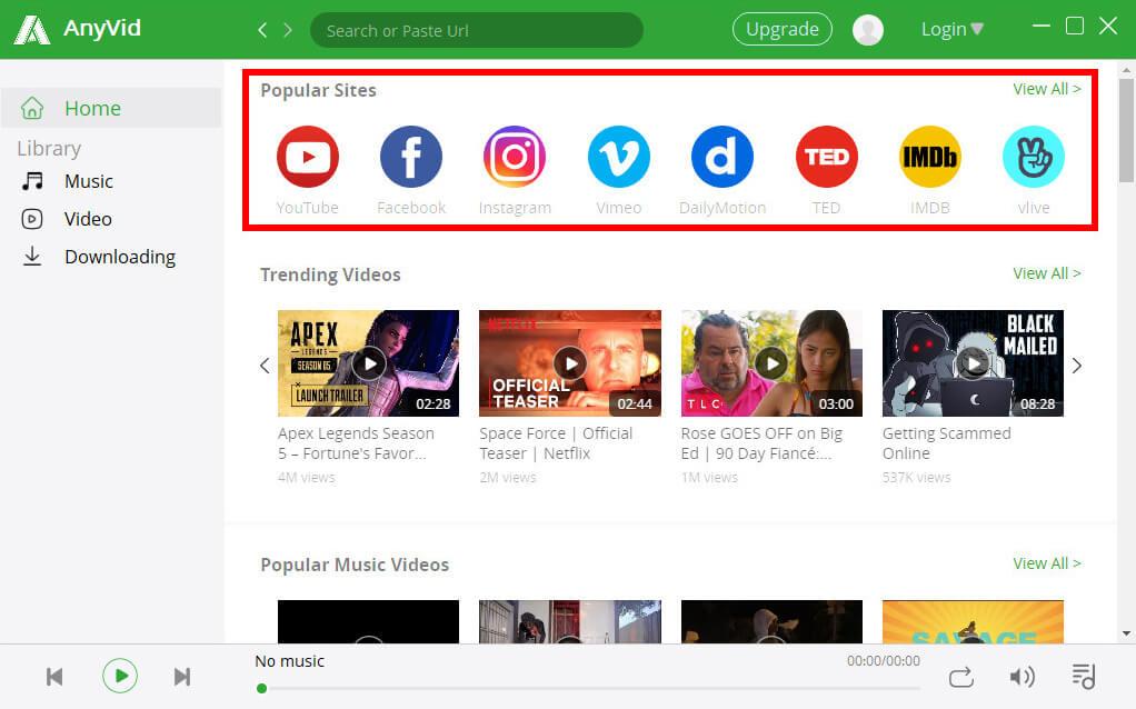 قم بزيارة موقع الفيديو المشهور على برنامج تنزيل الفيديو Firefox