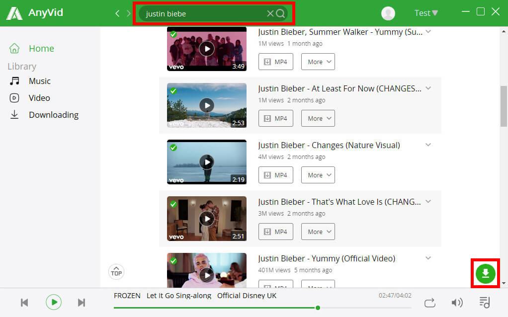 Trova video per il download in batch