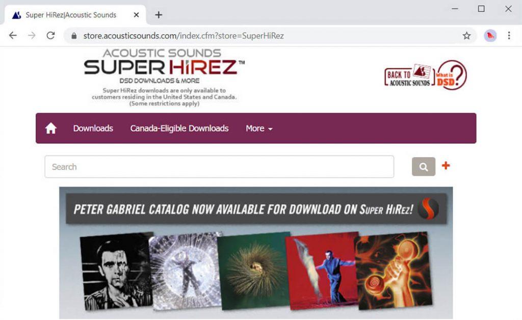 Akustische Sounds Super HiRez-Schnittstelle