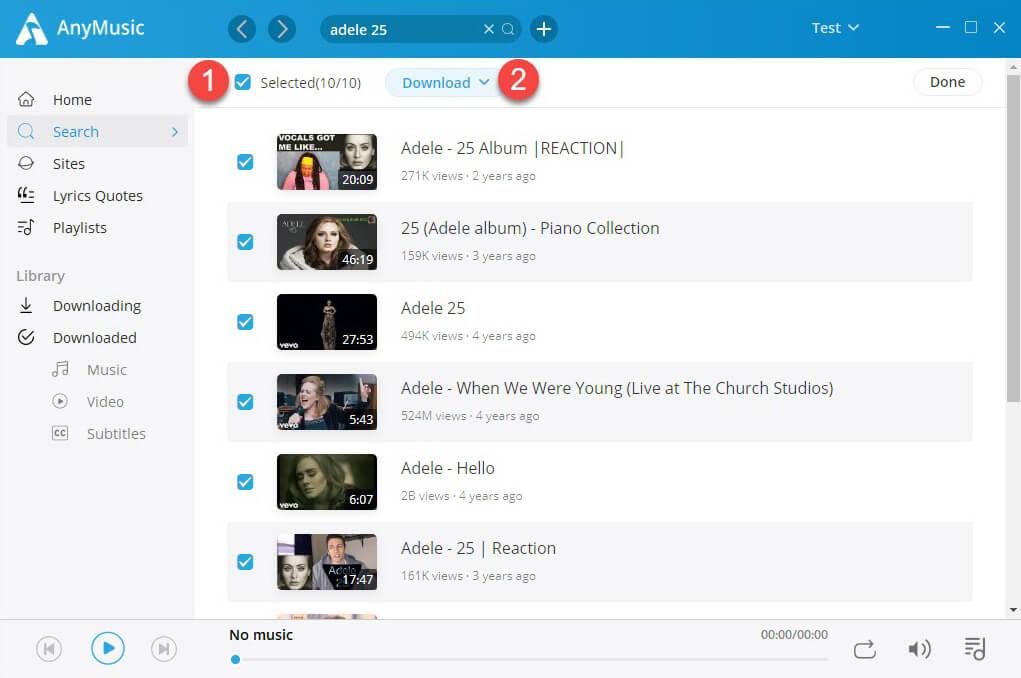 Batch-Download der Audiomack-Wiedergabeliste als MP3