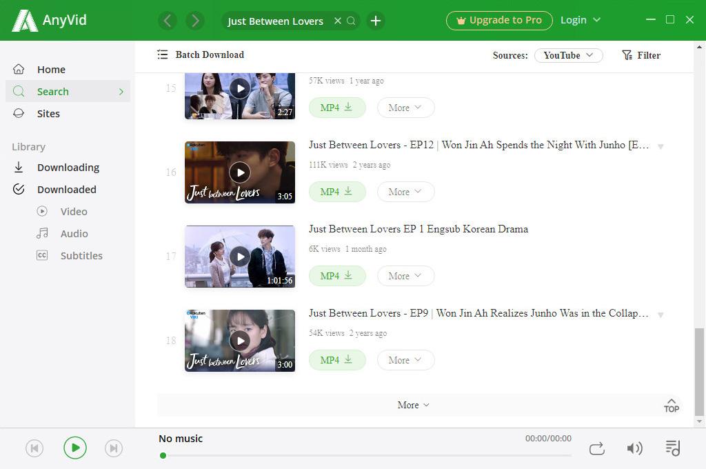 Search  for Korean drama