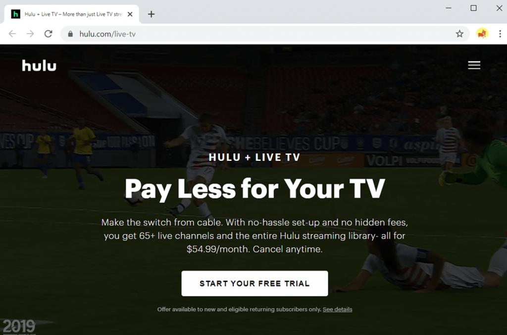 Hulu + Live-Fernsehen