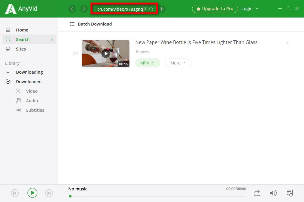 البحث-Dailymotion- مقاطع الفيديو عبر URL