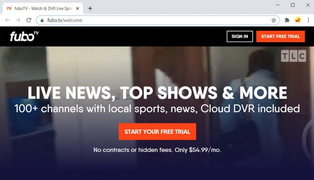 fuboTV - alternativa a Hulu