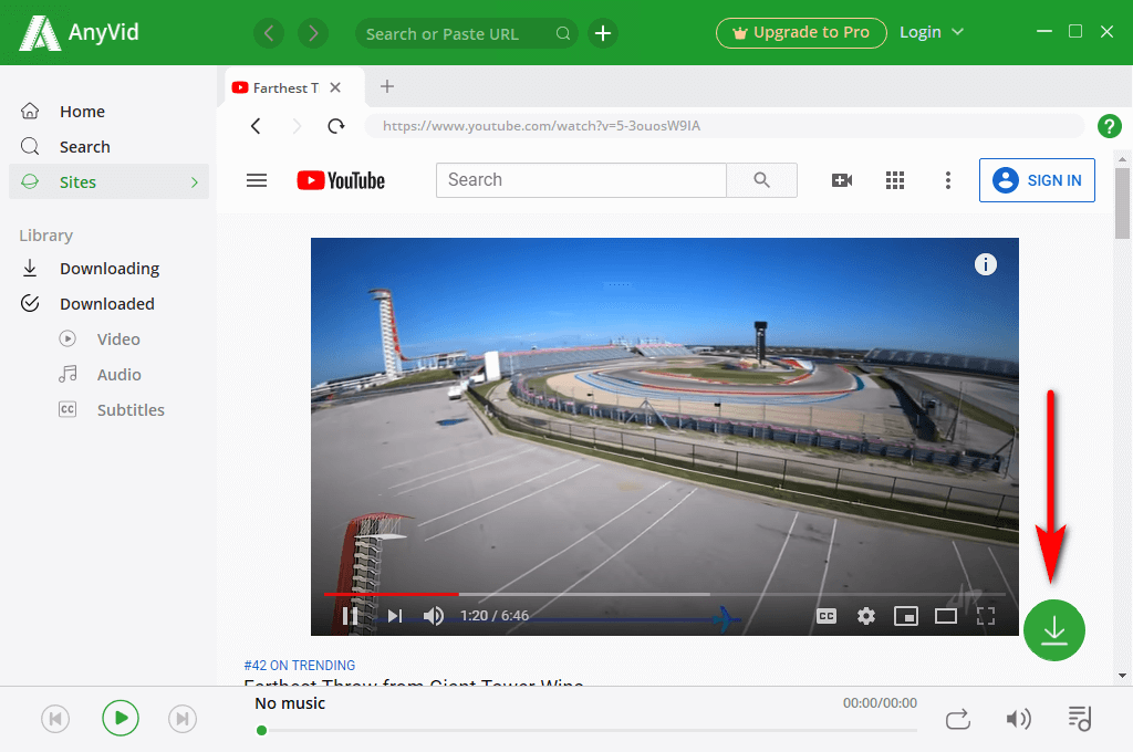 View videos with the built-in browser