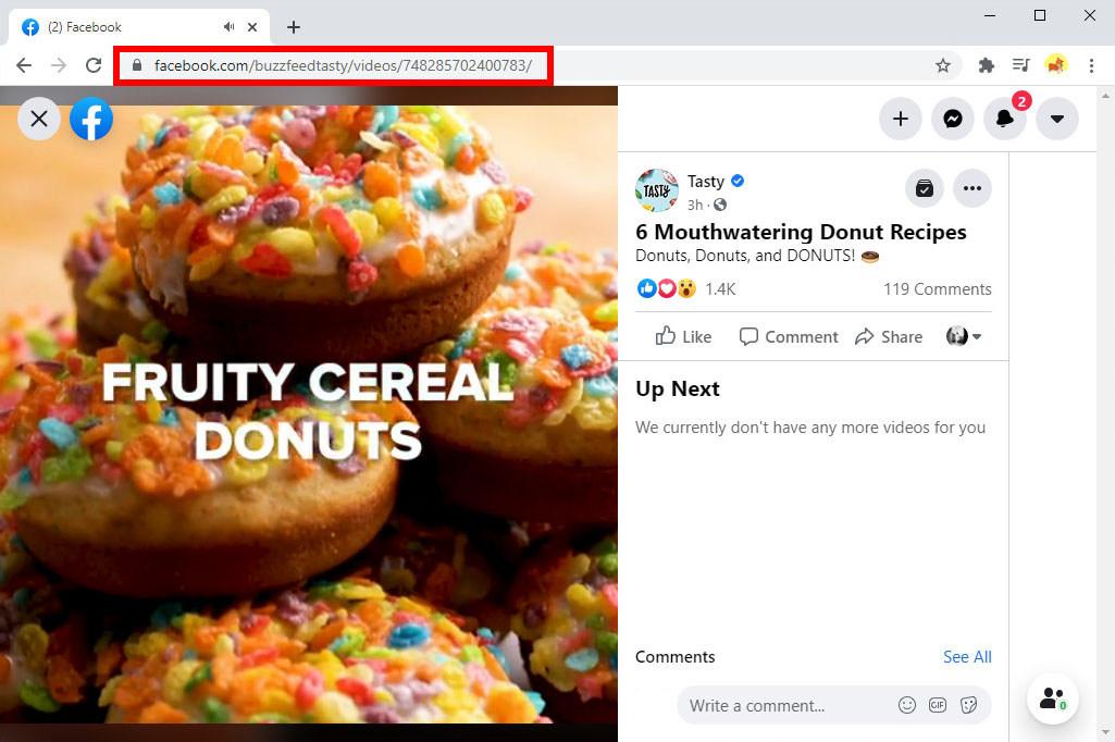 Kopieren Sie die Facebook-Video-URL