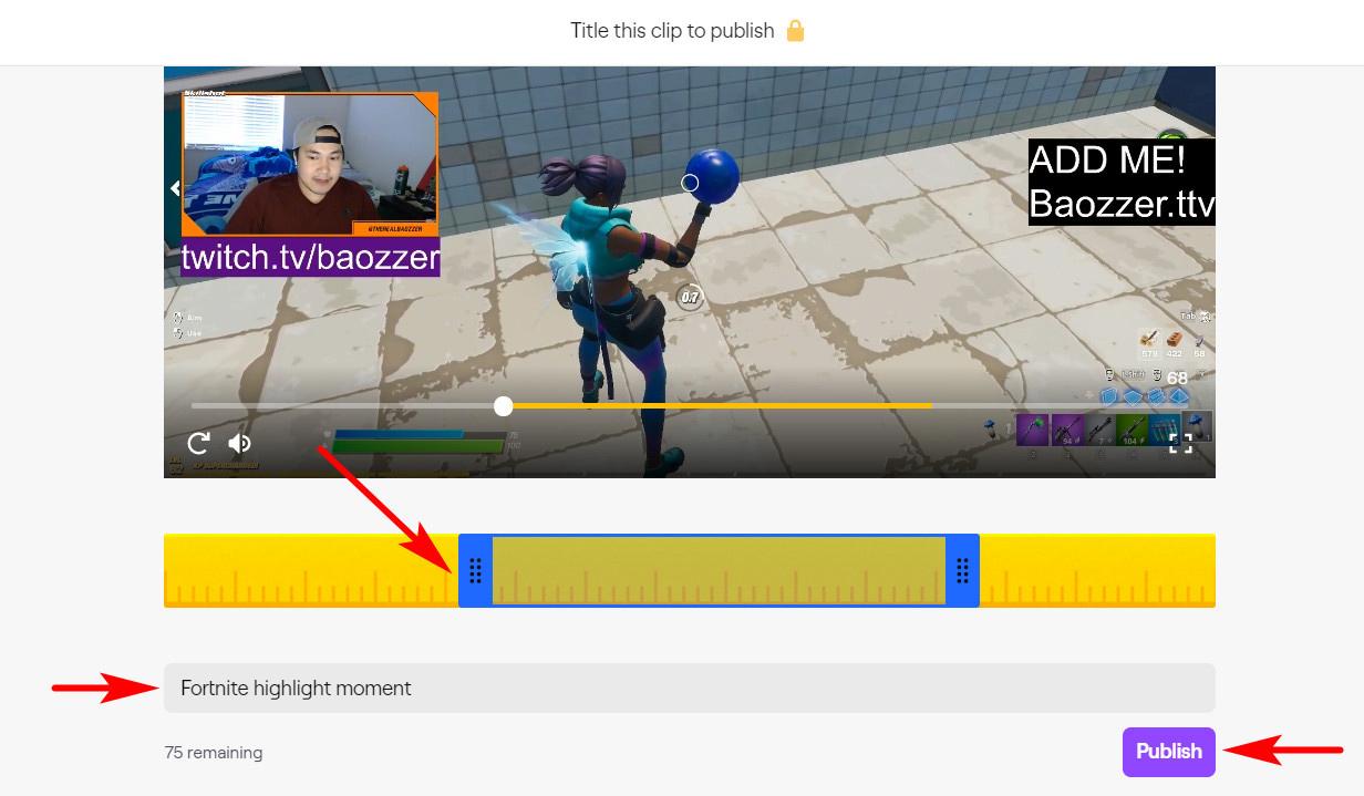 Erstellen Sie einen Twitch-Clip