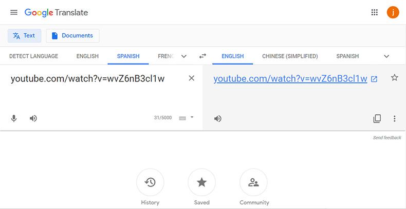 استخدم Google Translate كوكيل