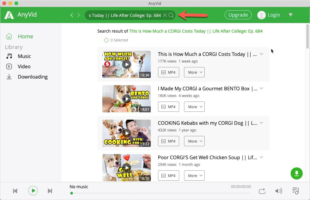 キーワードでYouTube動画を検索