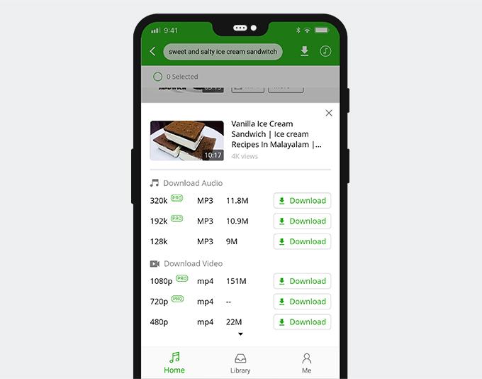 Laden Sie das Social Media-Video auf Android herunter