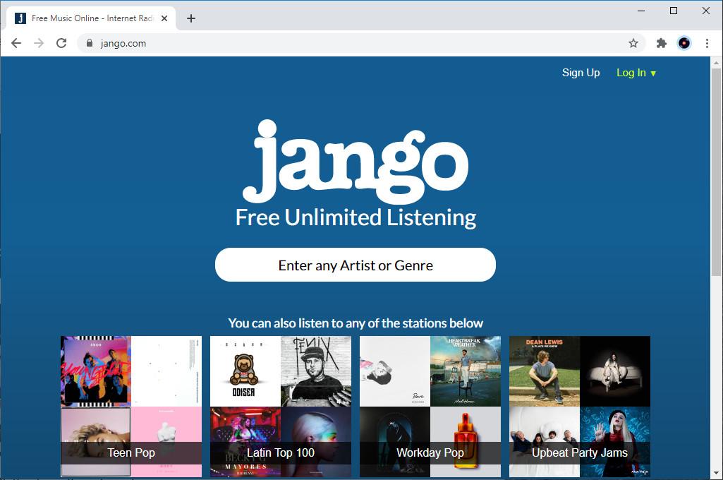 Pandora alternative - Jango