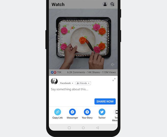 Copy Facebook video link