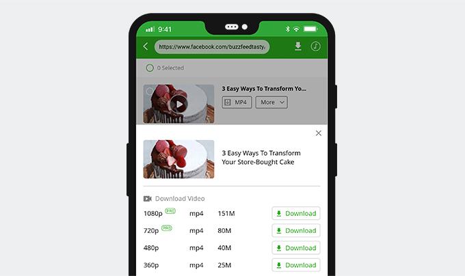 Speichern Sie FB in MP4 auf Android