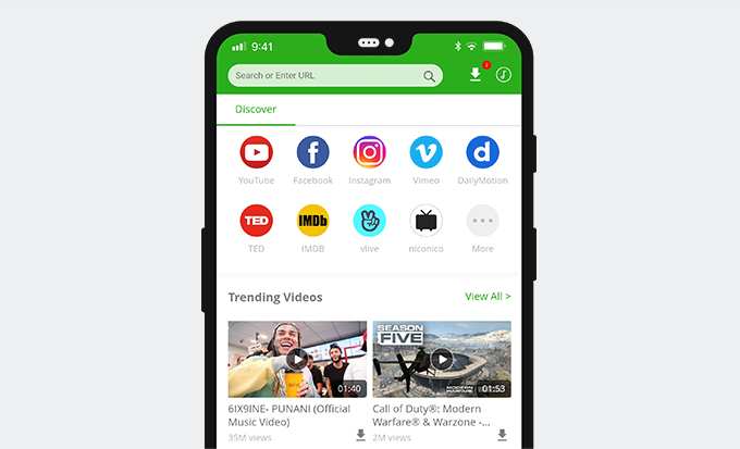 Twitter video downloader app for Android - AnyVid