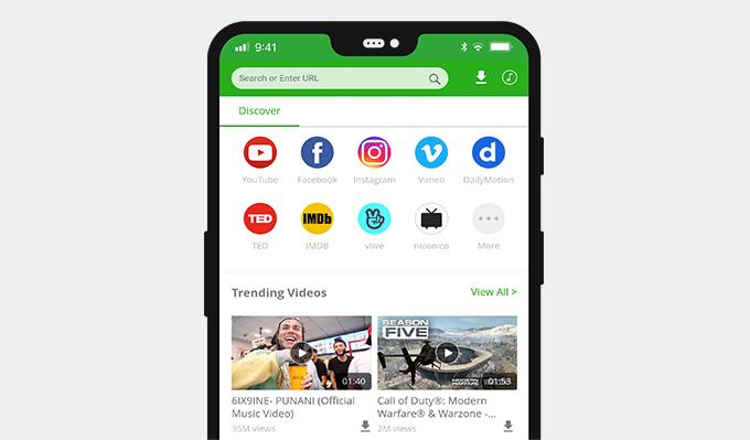 Starten Sie AnyVid und fügen Sie den FB-Videolink ein