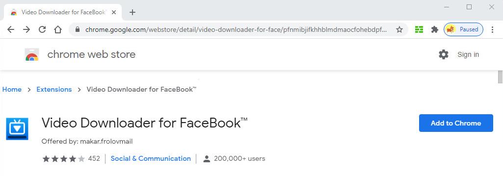 Video Downloader für FaceBook ™