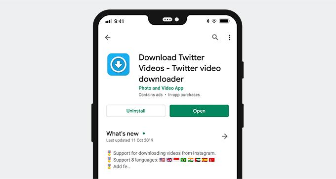 Twitter Video Downloader App für Android - Laden Sie Twitter Videos herunter