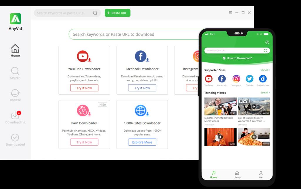 Twitter video downloader app for desktop – AnyVid