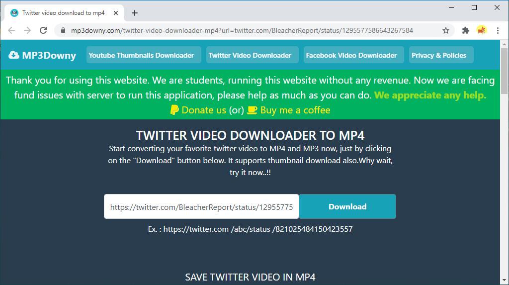 Klicken Sie auf die Download-Schaltfläche