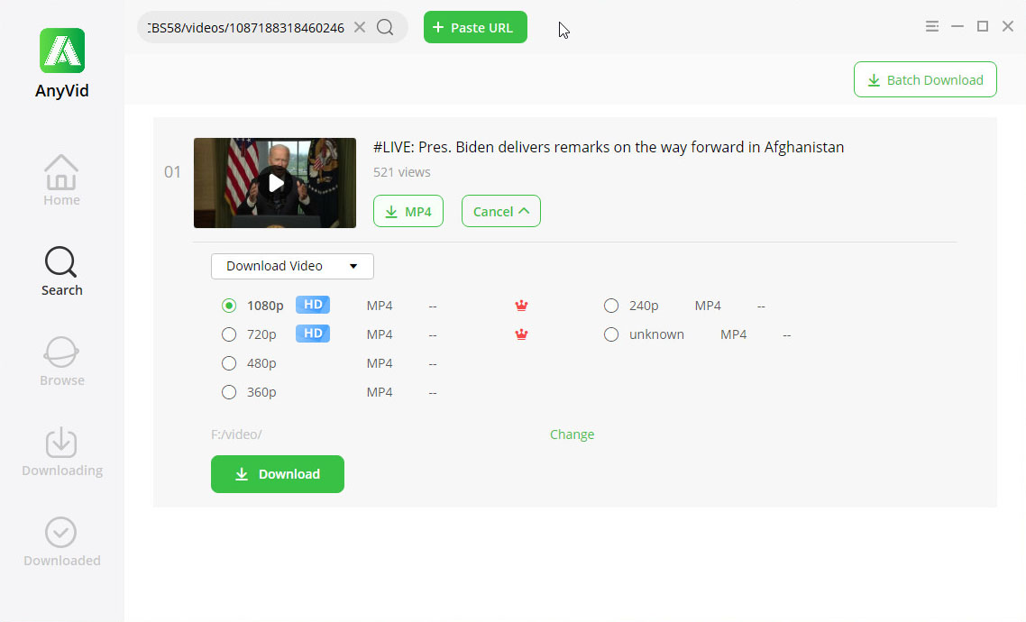 Download private Facebook video on PC