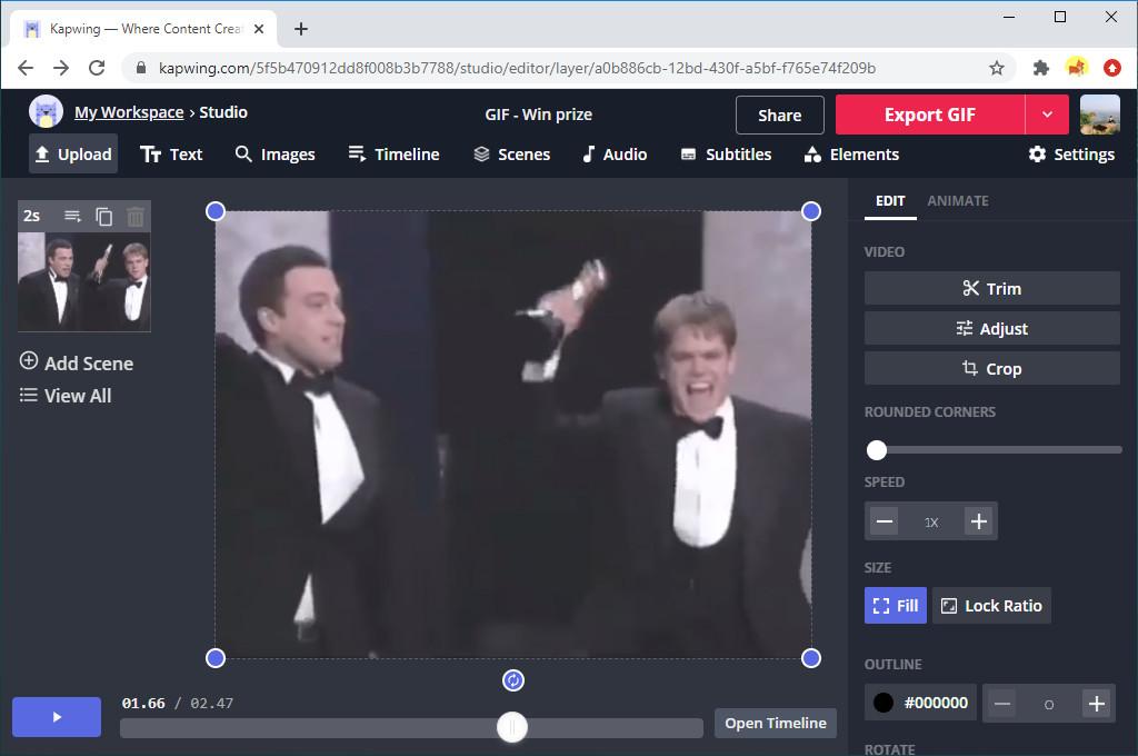 تصدير GIF