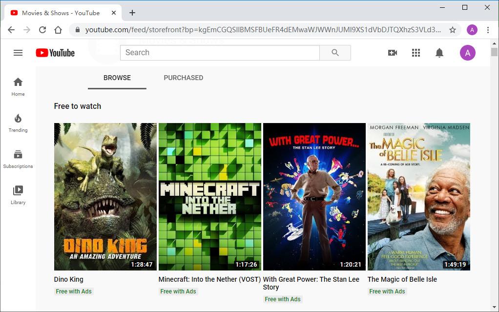 01 Kostenlose Filme auf YouTube ansehen