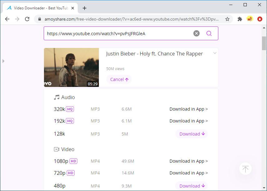 Scarica video di YouTube online con Free Video Finder