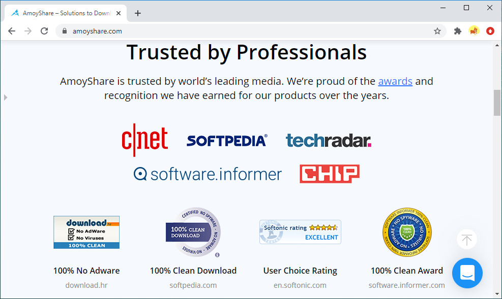 Receive safety certificates from renowned websites