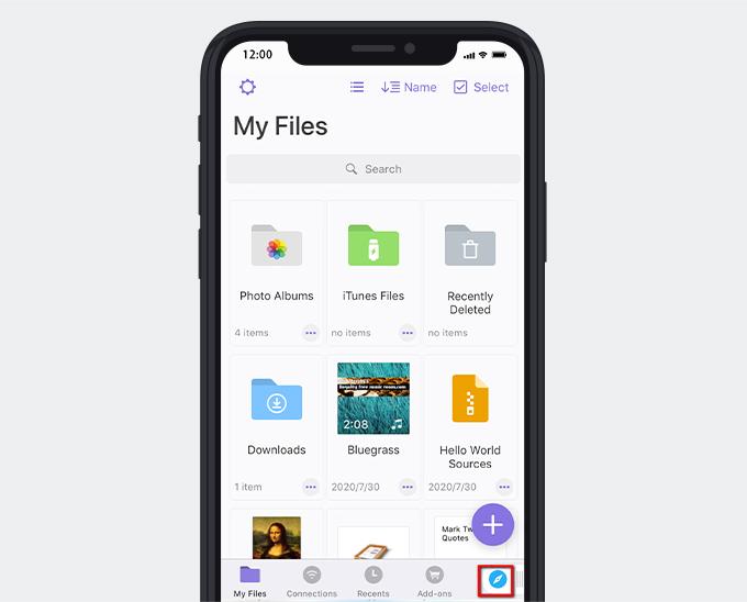 Integrierter Browser für Dokumente