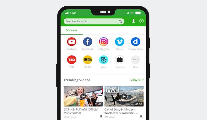 AnyVidアプリ