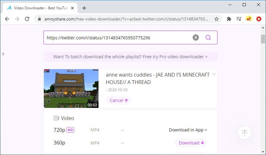 Scarica i video di Twitter online con Free Video Finder