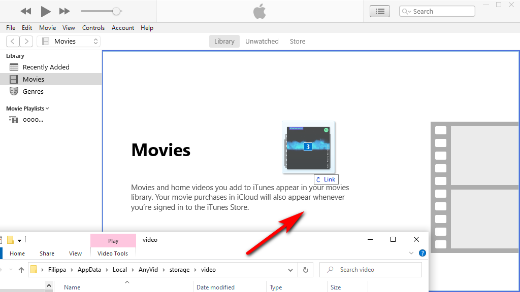 Copy Twitter videos from to iTunes