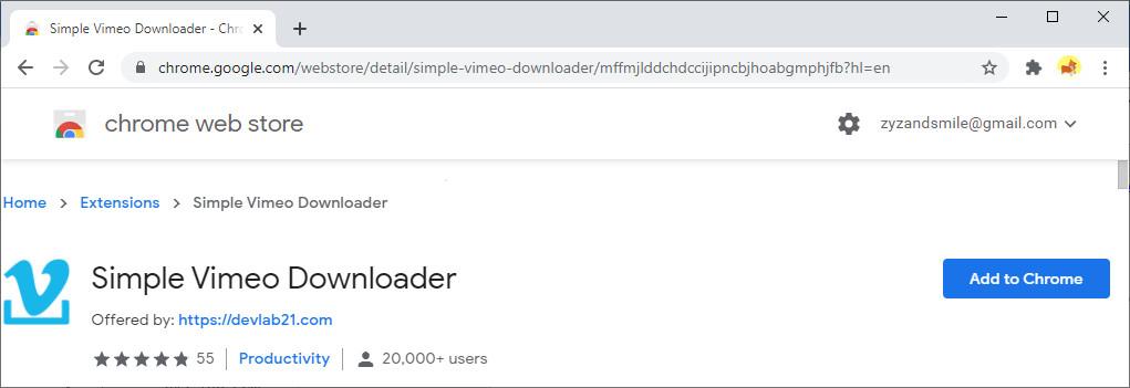 Einfacher Vimeo Downloader